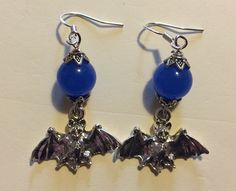 Non- goth bat earrings!!! Commission
