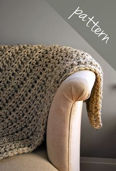 A Crafty House | Knit and Crochet Patterns and Accessories: Cozy Crochet Blanket Pattern Available!