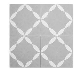 Daisy Grande C24-14 encaustic tile from Mosaic House