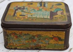 COLLECTABLE EARLY SNOW WHITE ILLUSTRATIONS | 'DAMOISEAU' VINTAGE SANDWICH TIN | eBay