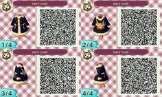 ACNL QR CODE-Navy Coat with Backpack