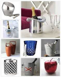 Pretty Ice Buckets // OF COURSE i want the one with the Alabama Flag on it!!