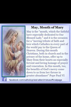 May the month of Mary