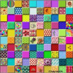 """100 """"Eye Candy"""" Tiles Puzzle created by Hummingbird59 Image copyright: (C) Kathy Potts 2016"""
