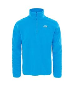 db1862fbb4 The North Face 100 Glacier 1/4 Zip Pullover in Blue Aster colour available  from