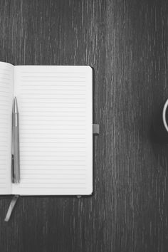 black-and-white, coffee, cup
