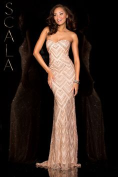 #SCALA Spring 2016 style 48585 Blush! #scalausa #spring2016 #prom2016 #gown #promdress #eveningwear #dress #sequins #specialoccasion #prom2k16 www.scalausa.com