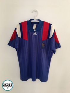 c248ff9a5 Details about FRANCE 1992 94 Home Football Shirt (M) Soccer Jersey ADIDAS  Vintage Maglia