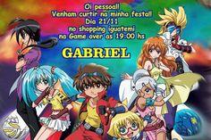 Convite digital personalizado Bakugan 001