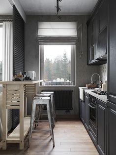 A conceptual apartment - dark andindustrial - desire to inspire - desiretoinspire.net - Denis Krasikov