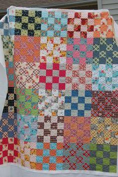 Lovely Colors, Scrap Quilt, easy Quilt pattern