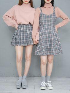 Korean twin fashion official korean fashion learn about these best korean fashion outfits 0374 koreanfashionoutfits Korean Fashion Dress, Korean Fashion Kpop, Korean Dress, Ulzzang Fashion, Korea Fashion, Asian Fashion, Korean Spring Fashion, Dress Fashion, Korean Fashion School