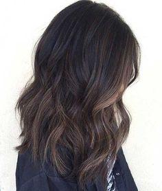 Soft Balayage Highlight Dark Hair