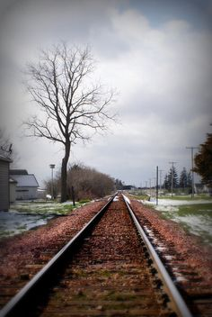 "Could be straight out of my novel ""Promise"" ... Railroad in Ossian, Iowa. (For Sale Print)"