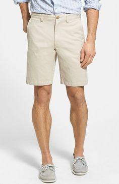 Men's Nordstrom Washed Flat Front Shorts