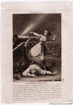 [Retrato de Agustina de Aragón]. Gálvez, Juan 1773-1846 — Grabado — 1812-1813