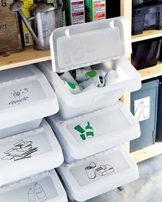 M s de 1000 ideas sobre cubos reciclaje en pinterest - Ikea cubo ropa ...