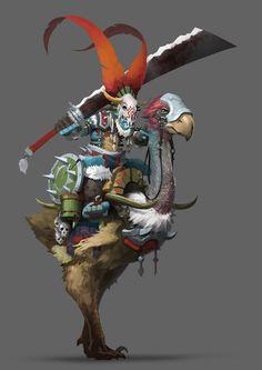 "artissimo: ""by yu yiming Digital Art Masters Volume 4 "" Fantasy Character Design, Character Concept, Character Inspiration, Character Art, Concept Art, Fantasy Creatures, Mythical Creatures, Fantasy Monster, Dragons"