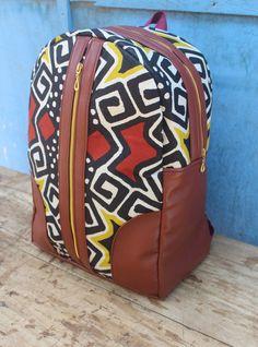 Mali Mini Ankara Backpack/ Bookbag/ Rucksack/ School Bag/ Back pack by AdinkraExpo on Etsy