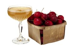 The Alien Comic - Crab Apple Syrup (recipe included), Vermouth, Sherry, Lemon, Hard Cider