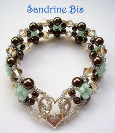 Pearl and crystal beads bracelet. Craft ideas from LC.Pandahall.com        #pandahall