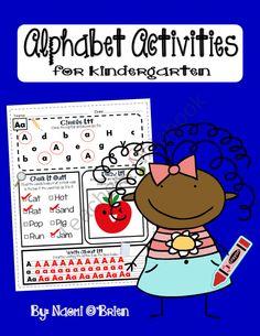 Kindergarten Alphabet Morning Work product from Read-Like-A-Rock-Star on TeachersNotebook.com