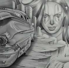 Chicano Drawings, Chicano Art, Tattoo Drawings, Tattoo Art, Arte Lowrider, Chola Style, Prison Art, Brown Pride, Grey Art