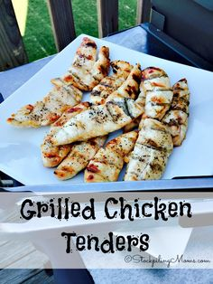 Grilled Chicken Tenders are so delicious and healthy, you can make them in as little as 15 minutes on the grill for lunch, dinner or to top a salad with!