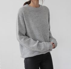Oversized Gray Jumper and Coated Black Denim | Death by Elocution