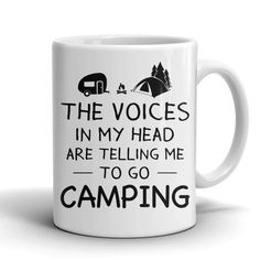 MUG - THE VOICES IN MY HEAD ARE TELLING CAMPING CAMP2015