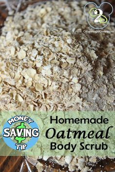 How to make a homemade oatmeal bath scrub. Great Christmas gift!