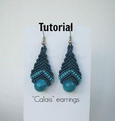 Earrings tutorial, macrame pattern, macrame earrings, macrame instructions, earrings instructions, Do it yourself, jewelry tutorial, by KNOTSANDSPARKLEZ on Etsy