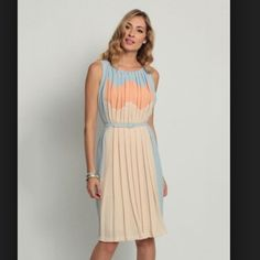 Eva Franco Isis Dress Amalfi Eva Franco Isis pleated dress in Amalfi. Great for spring! Belted dress Eva Franco Dresses