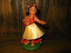 CUTE Hawaiian Dashboard Hula Girl DANCER bobble w/ lei of RESIN euc ALOHA HAWAII @eBay! http://r.ebay.com/OuPGk6 c30day