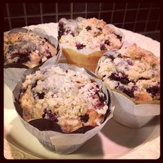 Blueberry Muffin with crumble