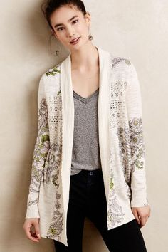 Anthropologie LACED BOUQUET CARDIGAN #anthrofave
