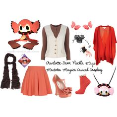 """Charlotte From Puella Magi Madoka Magica Casual Cosplay"" by cupcake-curiosities on Polyvore"