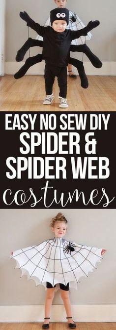 diy spider & spider web costume #halloweencostumekids