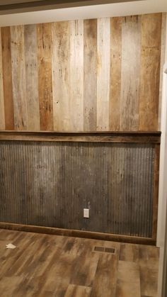 Rustic wall barnwood and tin