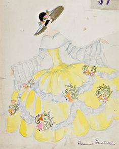 René Hubert costume designs,  1920