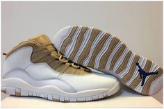wholesale dealer 90ede b5982 Air Jordan X (10) White Gold-035 Cheap Jordan Shoes, Cheap Jordans