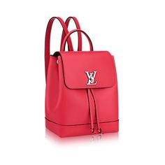 e80d7127ac58 LV Lockme backpack in Poppy. Red Leather, Leather Bags, Soft Leather,  Leather