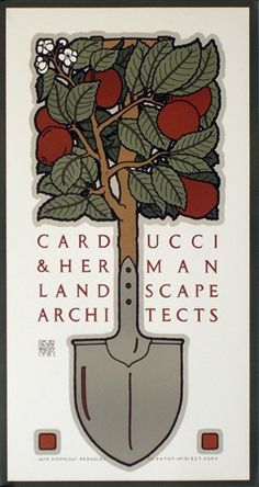 We love gardening almost as much as we love posters by Berkeley artist David Lance Goines! Vintage European Posters at vepca.com