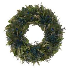 Peacock Dried Floral Wreath