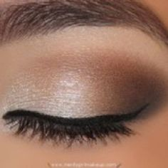 Natural smokey eye with light browns and golds