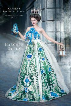 Inspiracje Barok, kostiumografia, quilling, suknia, Urszula Jeziorska-Łęczycka Dzisiaj mamy wielką przyjemność zaprezentować drugą odsłonę projektu GARDENS. The Royal Beauty. Tym razem zdolna kostiumografka Urszula Jeziorska-Łęczycka odnalazła twórczą inspirację w okresie Baroku. Poniżej przedstawiamy kilka zdjęć z procesu powstawania kostiumu oraz końcowy rezultat sesji fotograficznej wykonanej przez Jolania Fotografia. Tym razem do zdjęć pozowała piękna  Sylwia Banasik. Parka, Ball Gowns, Formal Dresses, Polyvore, Fashion, Fotografia, Ballroom Gowns, Dresses For Formal, Moda