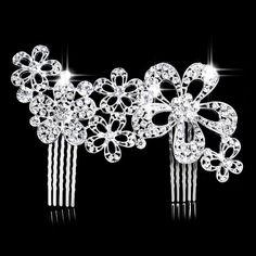 Bridal hair comb  Wedding hair comb  Rhinestone by PoshBridals