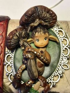 Polymer clay pendantOOAK miniature dollsminiatres in