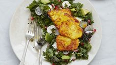 After a healthy, light meal? Try this simple kale and halloumi salad topped with a delightful yoghurt dressing, so it's still packed with flavour -wyza.com.au