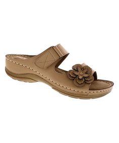 Love this Beige Floral Rich Sandal on #zulily! #zulilyfinds